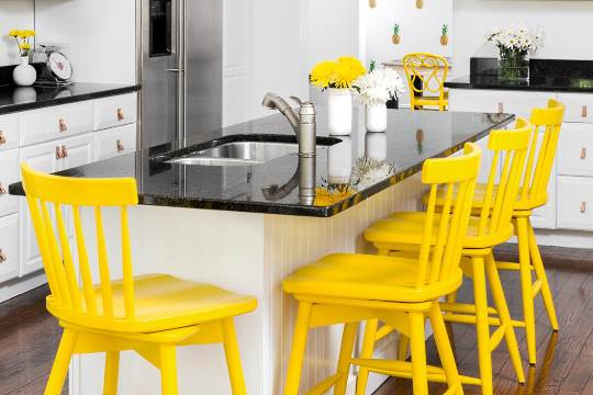 Trendy kitchen counter stools
