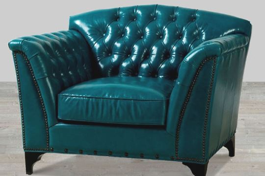 Color leather sofa