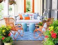 Bright colors porch