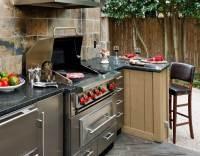 Porch outdoor kitchen