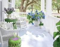 White summer porch