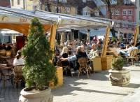 Riga sidewalk cafe