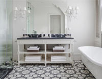 Moroccan tiles black white