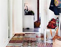 Moroccan tiles hallway