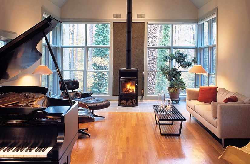 Wood Burning Stove In Modern Apartment Post Online Media