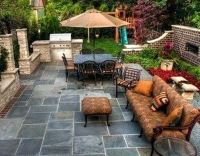 Small paved backyard