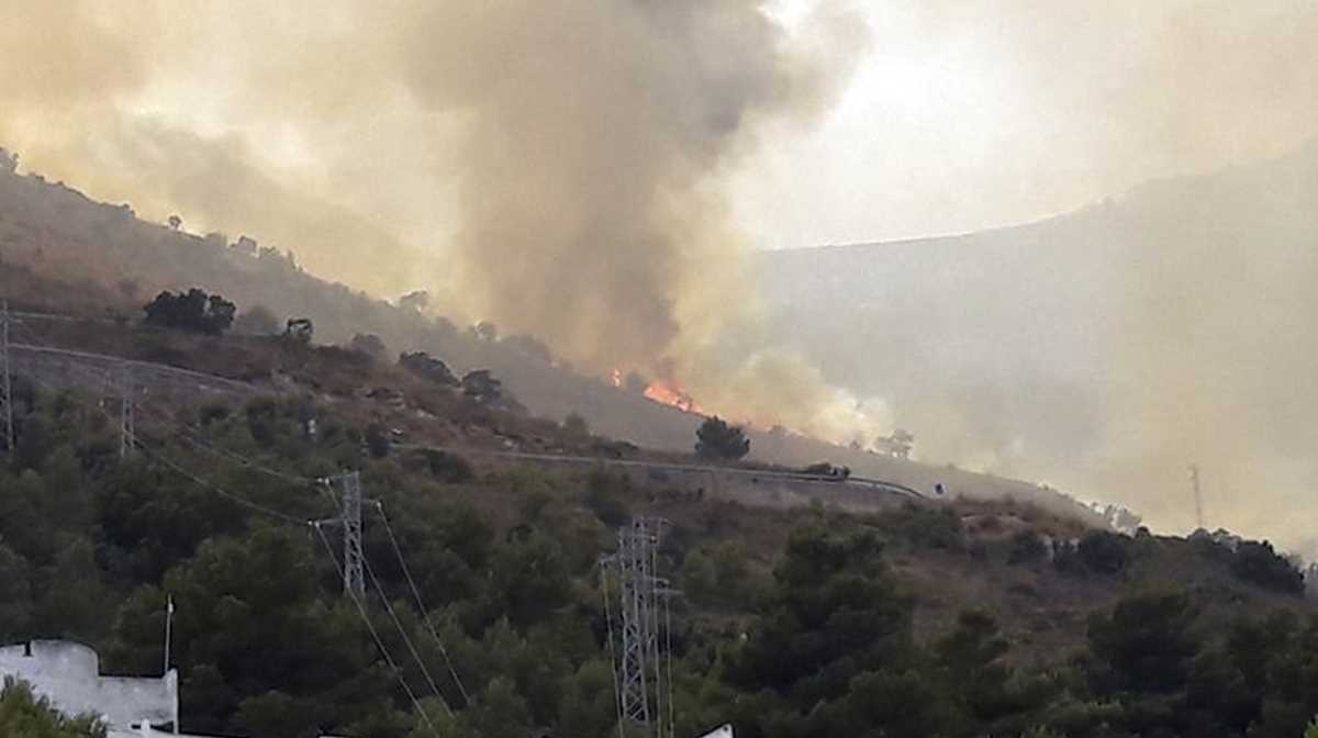 wildfires spread in southern Italy
