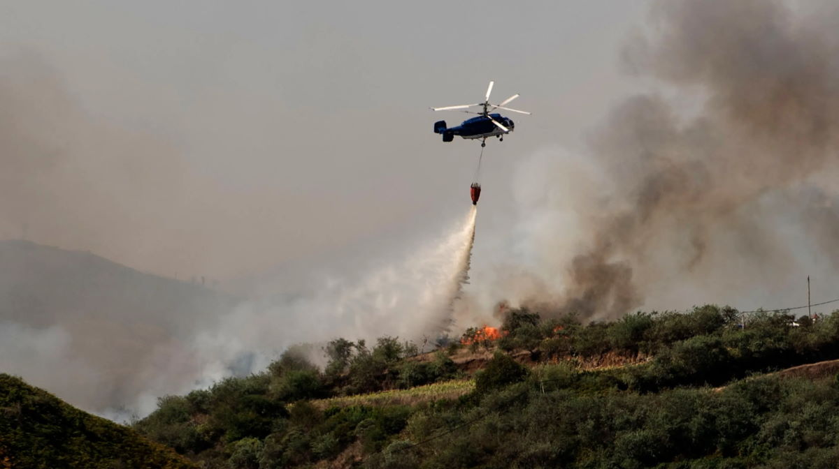 Canary Islands wildfire