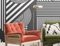 Living room bold wallpaper
