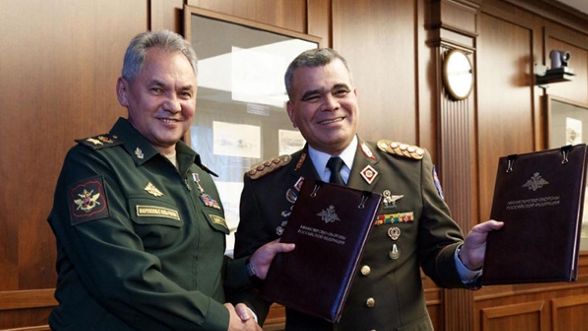Sergei Shoigu and Vladimir Padrino Lopez